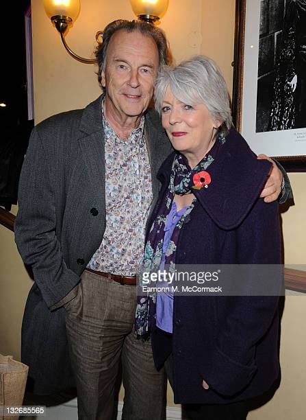 Michael Elwyn and Alison Steadman arrive at the The Old Vic's 24 Hour Plays Celebrity Gala on November 13 2011 in London England The event now in its...