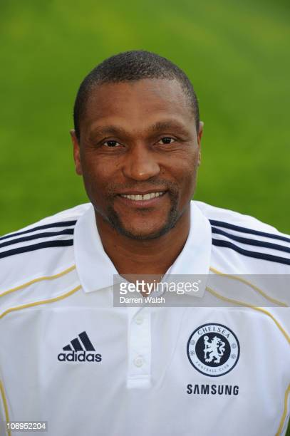 Michael Emenalo of Chelsea during the Reserve and Youth team photocall at the Cobham training ground on September 10 2010 in Cobham England