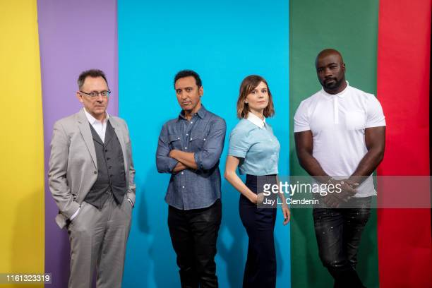 Michael Emerson Aasif Mandvi Katja Herbers and Mike Colter of 'Evil' are photographed for Los Angeles Times at ComicCon International on July 18 2019...