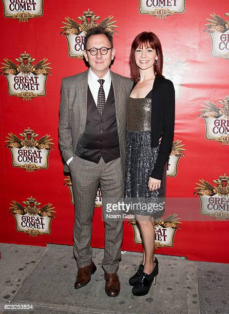 """Michael Emerson and Carrie Preston attend the opening night of """"Natasha, Pierre & The Great Comet Of 1812"""" on Broadway at Imperial Theatre on..."""