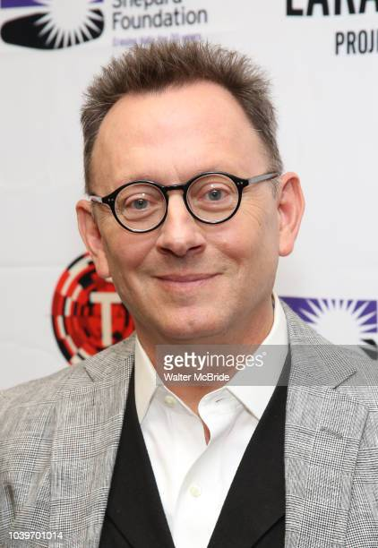 Michael Emerson attends the cast photo call for Laramie A Legacy on September 24 2018 at The Gerald W Lynch Theater at John Jay College in New York...