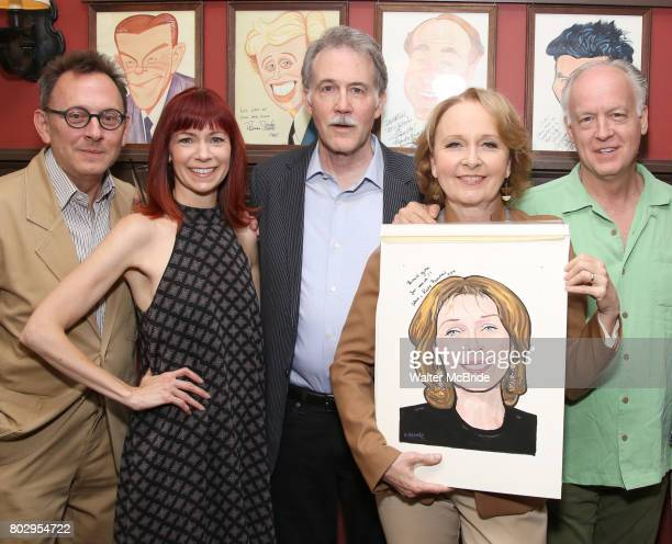 Michael Emerson Carroie Preston Boyd Gaines Kate Burton and Reed Birney attend the Sardi's Caricature Unveiling for Kate Burton at Sardi's on June 28...