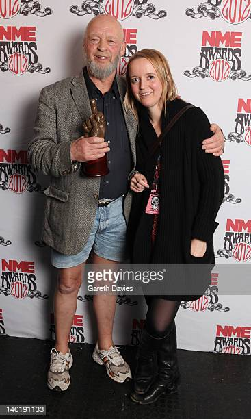 Michael Emily Eavis win Best Festival at The NME Awards 2012 at The o2 Academy Brixton on February 29 2012 in London England