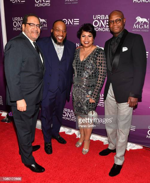 Michael Eric Dyson Marvin Sapp April Ryan and Benny Pough attend 2018 Urban One Honors at La Vie on December 9 2018 in Washington DC