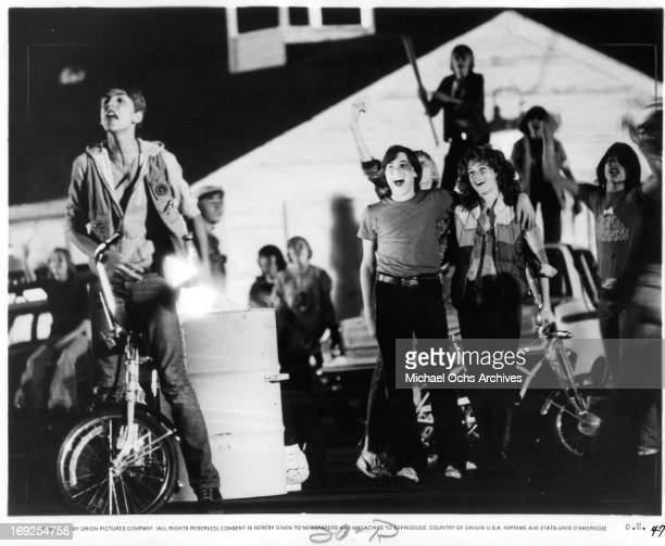 Michael Eric Kramer Pamela Ludwig and others in a scene from the film 'Over The Edge' 1979