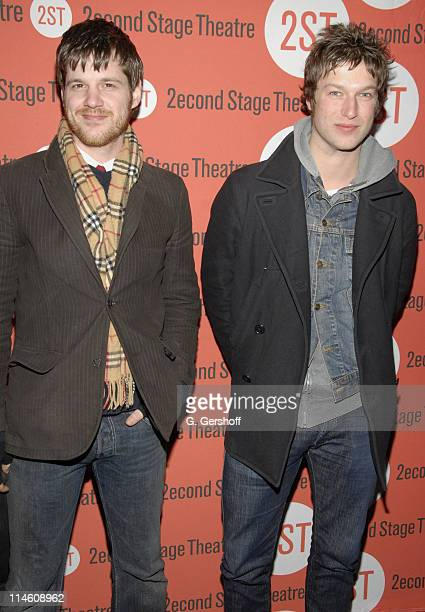 Michael Esper and Peter Scanavino during The Scene New York Opening Night and After Party at Second Stage Theatre in New York City New York United...