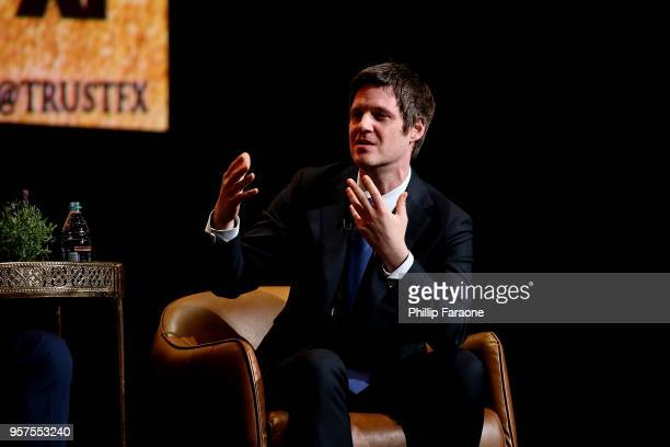 Michael Esper speaks onstage during the For Your Consideration Event for FX's 'Trust' at Saban Media Center on May 11 2018 in North Hollywood...