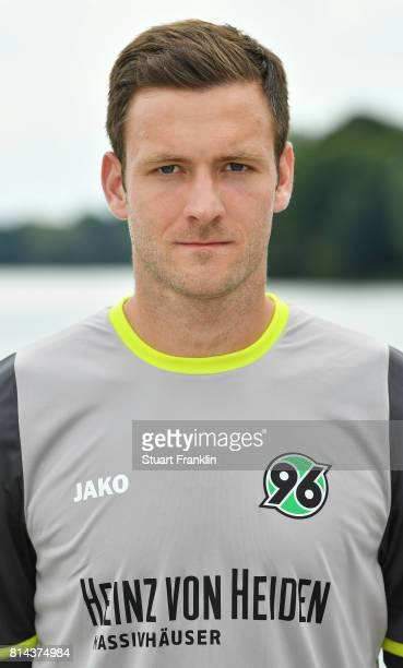 Michael Esser of Hannover 96 poses during the team presentation at on July 14 2017 in Hanover Germany
