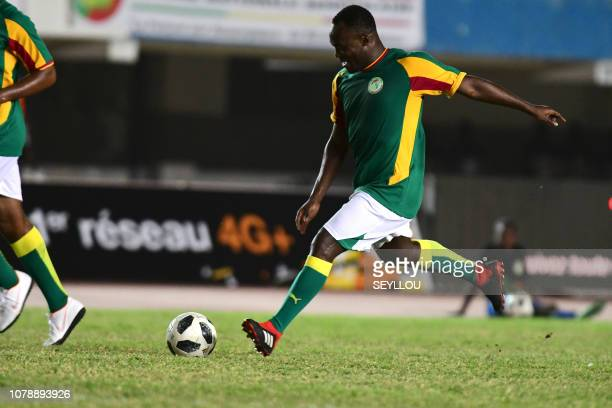 Michael Essien from Team Generation 2002 during the match of the Legends in homage of Jules Francois Bocande on January 7 at the Leopold Sedar...