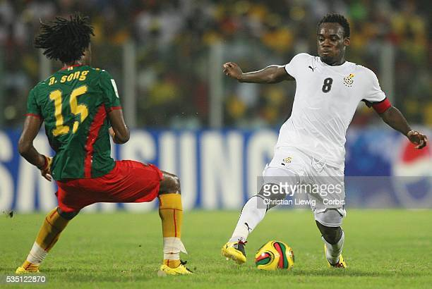 Michael Essien of Ghana during the CAF African Cup of Nations Semi Final between Ghana and Cameroon played in Accra Ghana Cameroon went on to win 10...