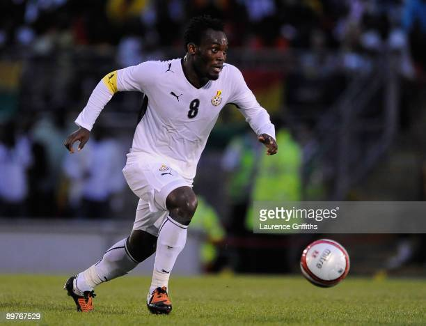 Michael Essien of Ghana in action during the International Friendly match between Ghana and Zambia at Brisbane Road on August 12 2009 in London...