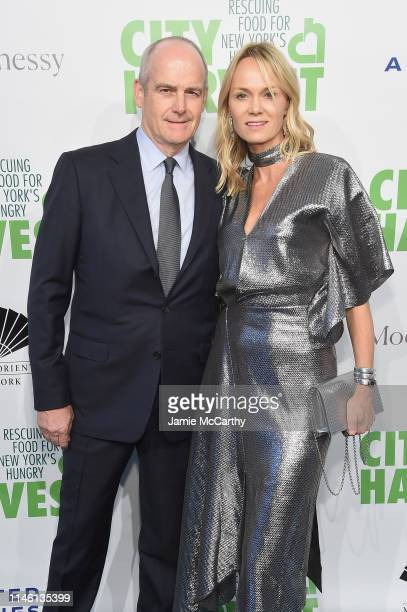 Michael Evans and Lise Evans attend City Harvest The 2019 Gala on April 30 2019 at Cipriani 42nd Street in New York City