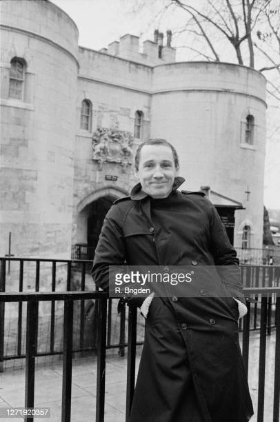 Michael Fagan, the intruder who gained access to the bedroom of Queen Elizabeth II in Buckingham Palace in 1982, pictured at the entrance to the...