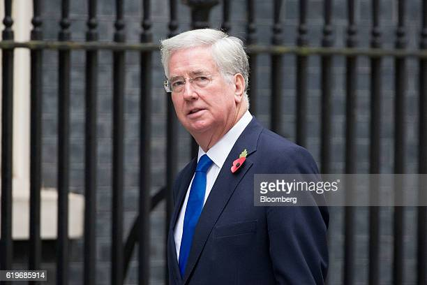 Michael Fallon UK defense secretary arrives for the weekly cabinet meeting at 10 Downing Street in London UK on Tuesday Nov 1 2016 Japan warned UK...