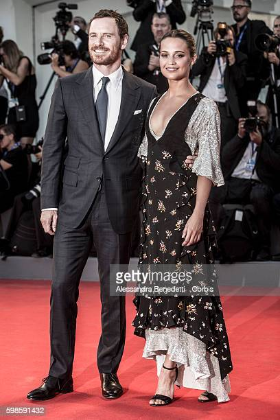 Michael Fassbender and Alicia Vikander attend a premiere for 'The Light Between Oceans' during the 73rd Venice Film Festival at on September 1 2016...