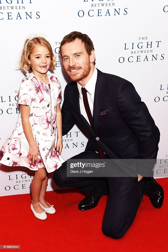 Michael Fassbender (R) and Florence Clery attend the UK Premiere of 'The Light Between Oceans' at The Curzon Mayfair on October 19, 2016 in London, England.
