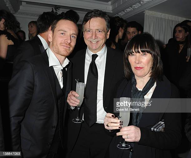 Michael Fassbender and his parents Josef Fassbender Adele Fassbender attend the Weinstein Company and Entertainment Film Distributors PostBAFTA Party...
