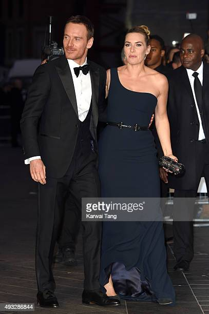 Michael Fassbender and Kate Winslet attend a screening of Steve Jobs on the closing night of the BFI London Film Festival at Odeon Leicester Square...