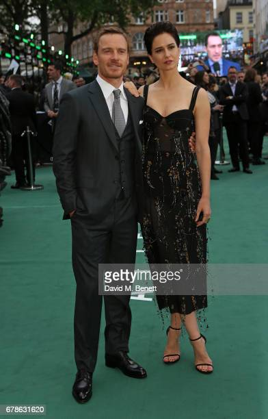 Michael Fassbender and Katherine Waterston attend the World Premiere of 'Alien Covenant' at Odeon Leicester Square on May 4 2017 in London England