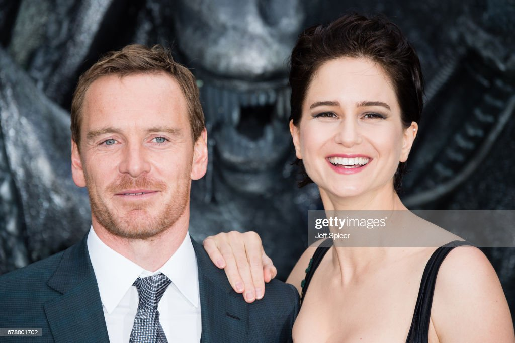 Michael Fassbender and Katherine Waterston attend the World Premiere of 'Alien: Covenant' at Odeon Leicester Square on May 4, 2017 in London, England.