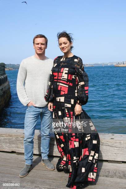 Michael Fassbender and Marion Cotillard pose in front of the Sydney Opera House to promote Assassin's Creed on November 11 2016 in Sydney Australia