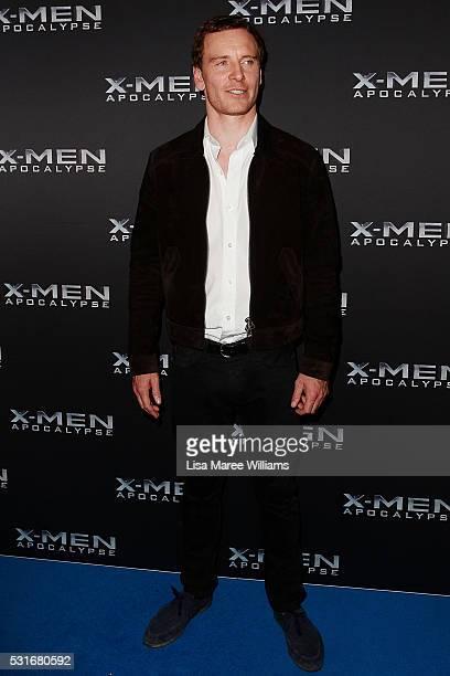 Michael Fassbender arrives ahead of the XMen Apocalypse VIP screening at Event Cinemas George Street on May 16 2016 in Sydney Australia