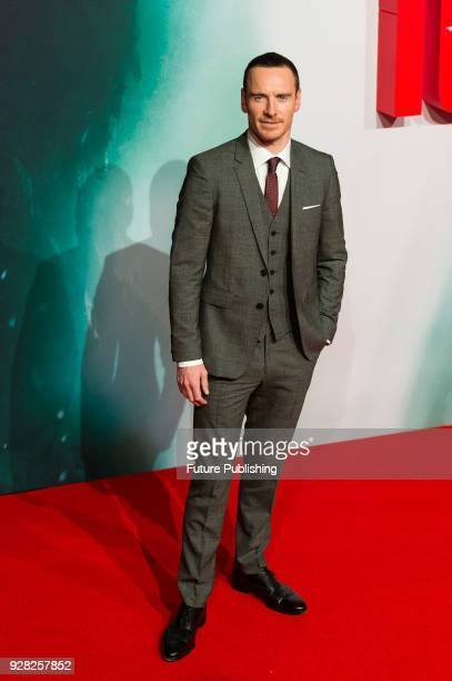 Michael Fassbender arrives for the European film premiere of 'Tomb Raider' at Vue West End cinema in London's Leicester Square March 6 2018 in London...