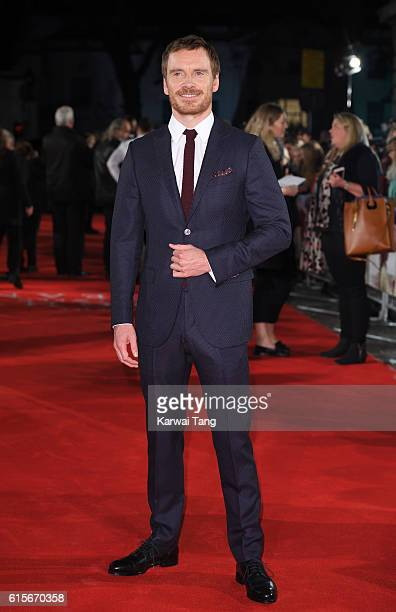 Michael Fassbender arrives for the UK premiere of 'The Light Between Oceans' at The Curzon Mayfair on October 19 2016 in London England