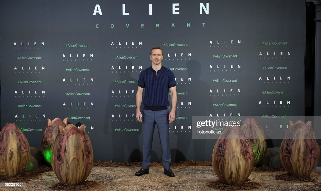 Michael Fassbender attends a photocall for 'Alien: Covenant' at the Villa Magna Hotel on May 8, 2017 in Madrid, Spain.