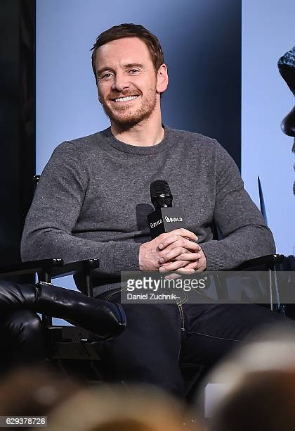 Michael Fassbender attends AOL Build to discuss the movie 'Assassin's Creed' at AOL HQ on December 12 2016 in New York City