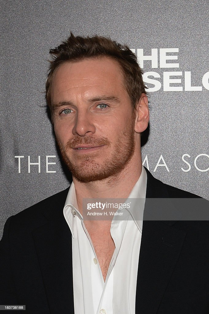 Michael Fassbender attends Emporio Armani With GQ And The Cinema Society Host A Screening Of 'The Counselor' at Crosby Street Hotel on October 9, 2013 in New York City.