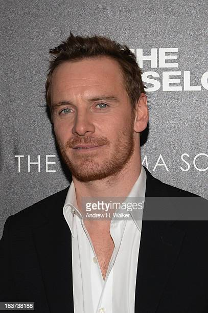 Michael Fassbender attends Emporio Armani With GQ And The Cinema Society Host A Screening Of 'The Counselor' at Crosby Street Hotel on October 9 2013...