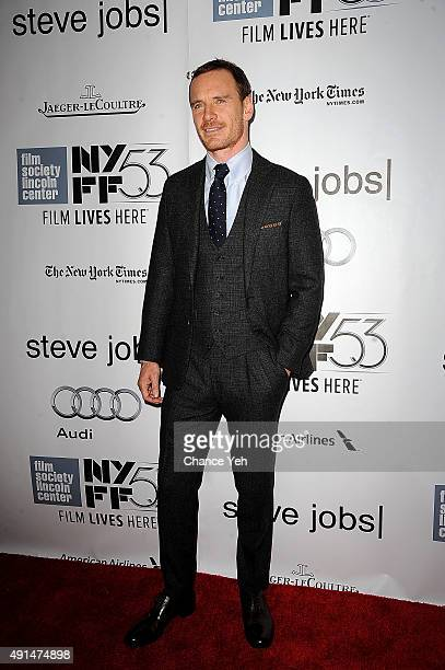 Michael Fassbender attends the 53rd New York Film Festival Steve Jobs screening at Alice Tully Hall on October 3 2015 in New York City