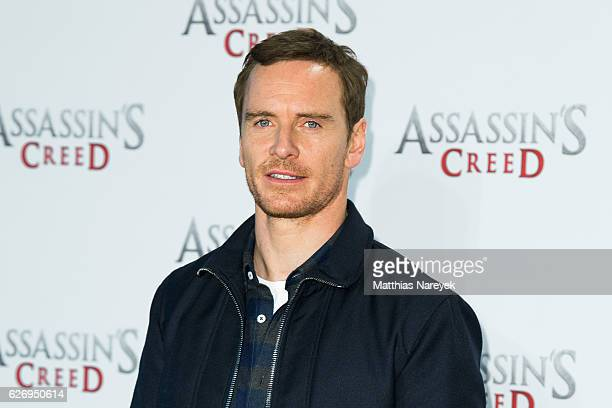 Michael Fassbender attends the 'Assassin's Creed' Berlin Photocall at Cafe Moskau on December 1 2016 in Berlin Germany