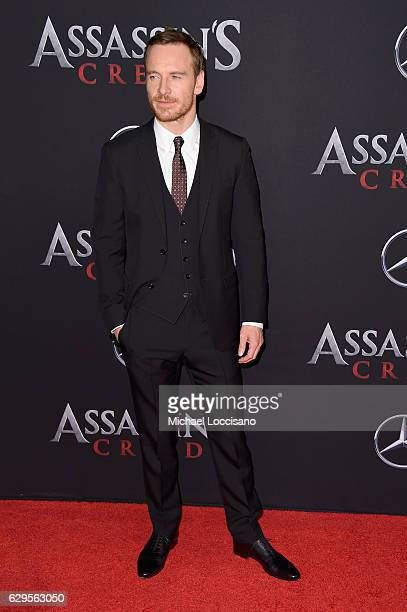 Michael Fassbender attends the Assassin's Creed New York Premiere at AMC Empire 25 theater on December 13 2016 in New York City