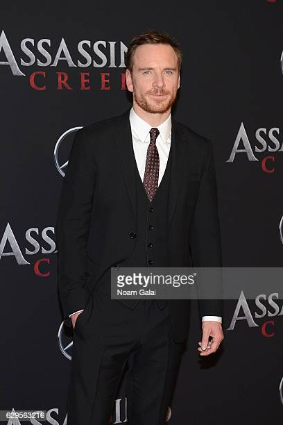 Michael Fassbender attends the 'Assassin's Creed' New York Premiere at AMC Empire 25 theater on December 13 2016 in New York City