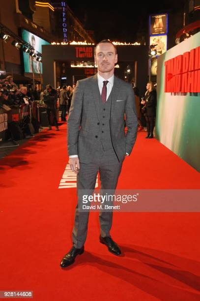 Michael Fassbender attends the European Premiere of 'Tomb Raider' at Vue West End on March 6 2018 in London England