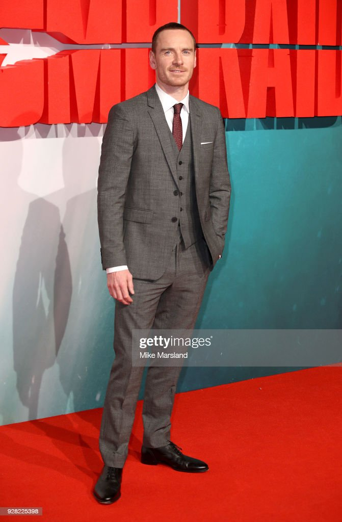 Michael Fassbender attends the European premiere of 'Tomb Raider' at Vue West End on March 6, 2018 in London, England.