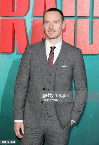 Michael Fassbender attends the Tomb Raider European premiere at the Vue West End on March 6 2018 in London England