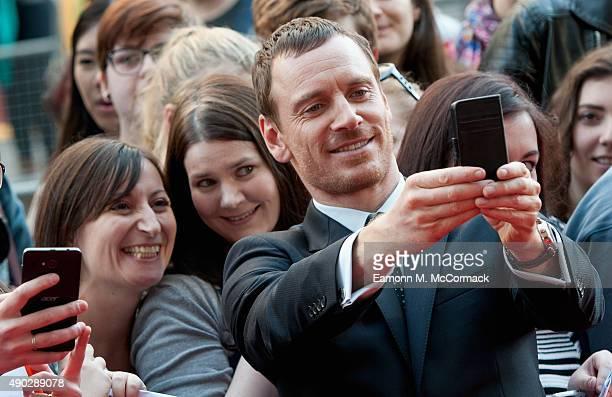 Michael Fassbender attends the UK Premiere of Macbeth at Edinburgh Festival Theatre on September 27 2015 in Edinburgh Scotland