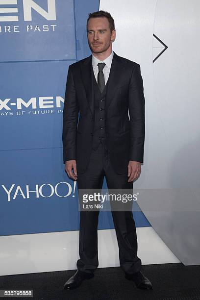 """Michael Fassbender attends the """"X-Men: Days of Future Past"""" global premiere at Jacob K. Javits Convention Center in New York City. © LAN"""