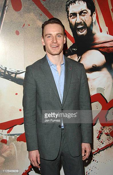 Michael Fassbender during '300' London Premiere Inside Arivals at Vue West End in London United Kingdom