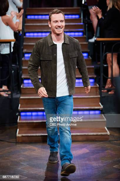Michael Fassbender greets the audience during 'The Late Late Show with James Corden' Thursday May 18 2017 On The CBS Television Network