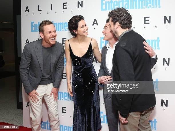 Michael Fassbender Katherine Waterson Billy Crudup and Danny McBride attend Alien Covenant Special Screening at Entertainment Weekly on May 15 2017...