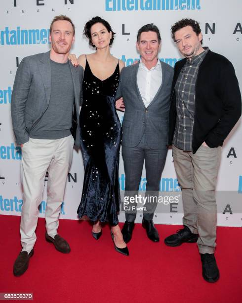 Michael Fassbender Katherine Waterston Billy Crudup and Danny McBride attend the 'Alien Covenant' special screening at Entertainment Weekly on May 15...