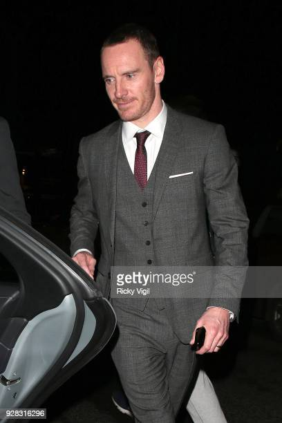 Michael Fassbender seen at Tomb Raider premiere dinner afterparty at Home House on March 6 2018 in London England