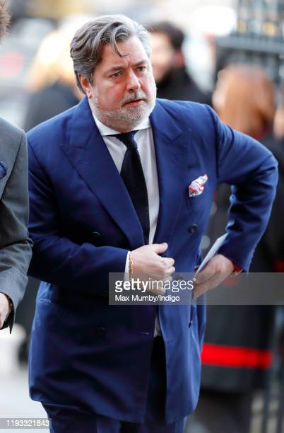 Michael Fawcett attends a Service of Thanksgiving for the life and work of Sir Donald Gosling at Westminster Abbey on December 11 2019 in London...
