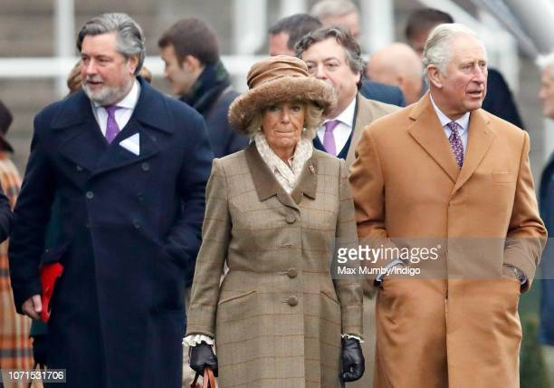 Michael Fawcett former valet to Prince Charles and current Chief Executive of the Prince's Foundation accompanies Camilla Duchess of Cornwall and...