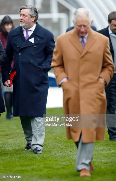 Michael Fawcett former valet to Prince Charles and current Chief Executive of the Prince's Foundation accompanies Prince Charles Prince of Wales as...