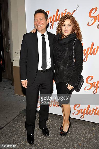 """Michael Feinstein and Bernadette Peters attend the """"Sylvia"""" opening night at Cort Theatre on October 27, 2015 in New York City."""